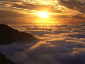 Above clouds and mist.. memory must serve of past experiences..